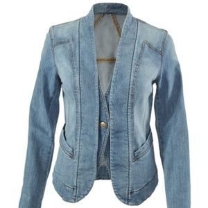 Love Carol CAbi Jean Jacket